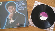 """Johnnie Taylor - LP - Who's Making Love"""" - NM Late 1980s pressing - shrink"""