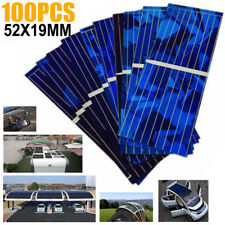 100pcs Solar Panel Solars Cell 0.5V 320mA 52x19mm DIY Battery Charge Tool Set#