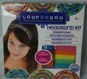 Loopdedoo Headband Kit Make 6 Thread Wrapped Elastic Headbands Age 8+ UK FreeP&P
