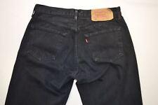 Para Hombre Negro Denim Jeans Levis 501 W 33 L36 #D1251911