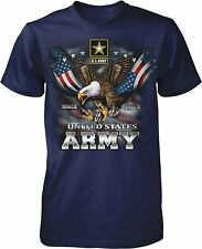US Army Since 1775 Eagle USA American Flag Wings Men's T-shirt