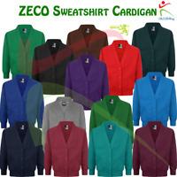 ZECO Girls Open Front Raglan Sleeves Adults Sweatshirt School Wear Cardigan Top