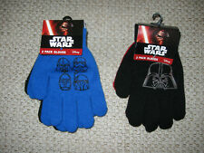 Star Wars Kids 2 Pk Glove Set One size Fits Most (Two color variations)