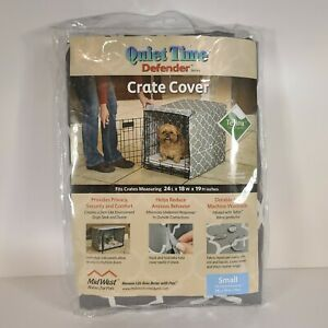 Midwest Quiet Time Crate Cover Geometric Gray Defender Series for Dogs 24x18x19