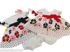 Nevo CON ETIQUETA Baby niñas Azul Marino O Rojo Flor Vestido de verano BRAGUITAS