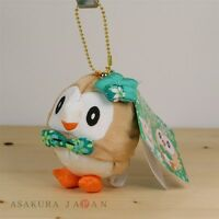 Pokemon Center Original Japanese Traditional Design Plush Mascot Chain Rowlet