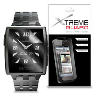 XtremeGuard LCD Screen Protector Skin Shield For Pebble Steel Smartwatch (Clear)