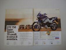 advertising Pubblicità 1990 MOTO YAMAHA XTZ 750 SUPER TENERE' SUPERTENERE'
