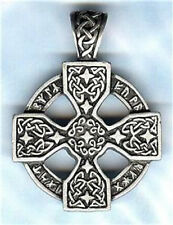 CELTIC CROSS PEWTER PENDANT STAINLESS STEEL BALL CHAIN NECKLACE - LAST ONE LEFT!