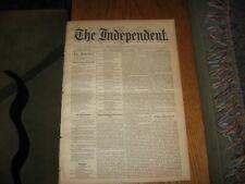1886 NY Independent, Tolstoy, Poe, Whittier, Thomas Penn English, Russia, Turkey