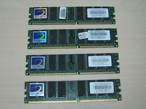 TwinMOS DDR1 1GB (4 X 256MB) PC3200 DDR-400 184pin M2G9IO8A-MK TEST OK!