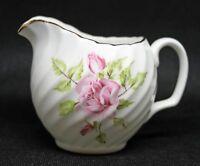 "Adderley Fine Bone China 2-1/2"" Mini Creamer. Pink Roses. England"