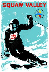 Squaw Valley Lake Tahoe 1960 Winter Olympics Vintage Advertising Poster