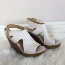 New Michael Kors Josephine leather Wedge Peep Toe, Black Size 7.5