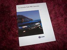 Catalogue / Brochure SAAB 900 Cabriolet 1994 //