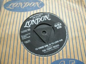 """The Teddy Bears To Know Him Is To Love Him b/w Don't You Worry 7"""" 45-HLN 8733"""