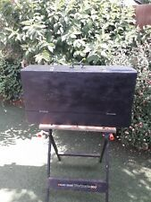 LARGE ANTIQUE/VINTAGE WOODEN CARPENTERS CARRY/BENCH TOOLBOX