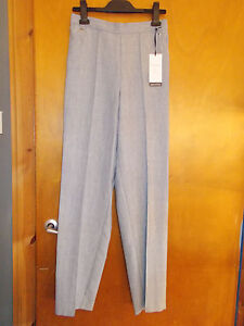 "M&S Trousers Classic Tapered Leg Textured Pull On 20L L33"" Grey Mix BNWT"