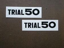 YAMAHA TY trial 50 Autocollant pages couvercle échappement Grille Décalque Mokick Enduro ty50