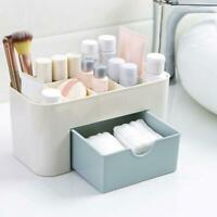 1* Plastic Multifunctional Desktop Cosmetic Box With Small Drawer Desk Supplies