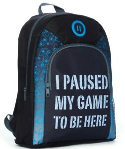 I Paused My Game To Be Here School Bag, Kids  Boys Gamer Backpack