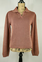 The Territory Ahead Women's 100% Cotton V-Neck Mocha Brown Sweater NEW - Size M