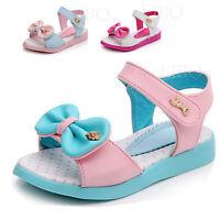 Fashion Summer Kids Girls Sandals Soft Bowknot Lovely Princess Flats Dress Shoes