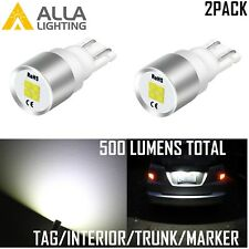 Alla Lighting 194 LED License Plate/Side Marker Light Bulb/Glove Box Lamp White