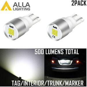 Alla Lighting 194 LED License Plate/Side Marker Light Bulb/Glove Box Lamp White