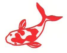 ak98 Comic Fisch Bunt Aufnäher Bügelbild Patch Flicken Kinder 10 x 5,5 cm