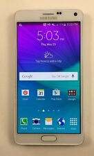 Samsung Galaxy Note 4 SM-N910A UNLOCKED AT&T Smartphone WHITE Read Description