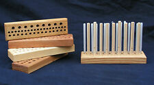 "200mm (8"") Mini ""Traveller"" Peg Loom - 3 row,3 gauge, crafted Yorkshire hardwood"