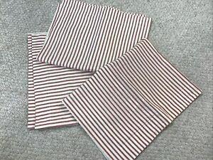 Potterybarn Lot Of 3 Red/White Stripe Standard Pillow Sham