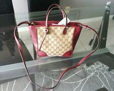 NWT Gucci Bree Guccissima Canvas & Red Leather Tote Bag Purse *$1150*