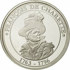 [#432382] France, Medal, François de Charette, 1989, Proof, Ms(63), Silver
