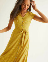 Boden Kleid - Frances Jersey Midi Dress - Sommer Gürtel NEU - UK 6 L EU 34
