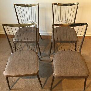 4 Daystrom Vintage Mid Century Chrome Chairs SUPER RARE!!