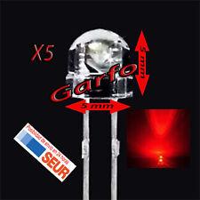 5X Diodo LED 5x5 mm Rojo 2 Pin alta luminosidad