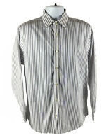 Banana Republic Men's Large L Shirt Long Sleeve Multi Colored Striped Slim Fit
