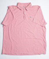 Vineyard Vines XL Polo Shirt Red/White Stripes 100% Pima Cotton