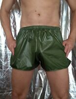 Ultra-thin hi-gloss ripstop nylon FOOTY or HIPSTER SHORTS (ALL SIZES XS to 3XL)
