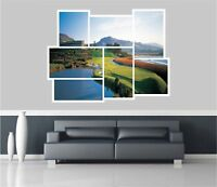 Huge Collage View Golf Fairway Wall Stickers Mural Wallpaper 276