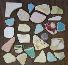 Genuine Surf Tumbled Beach Pottery Shards Sea Glass Caribbean II