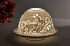 Dome Light Nr. 30171 Hauskatzen Teelichthalter Windlicht Dekolicht Porzellan