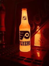 NHL Philadelphia Flyers Hockey 12 oz Beer Bottle Light LED Bar Man Cave