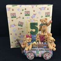 VTG 1999 Enesco Cherished Teddies Figurine 5 Teddies on a Float 5th Anniversary