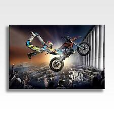 """RED BULL X FIGHTERS CANVAS Bike stunt Motocross Wall Art Poster 30""""x20"""" CANVAS"""