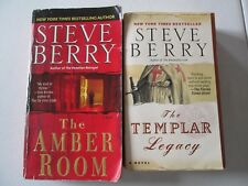STEVE BERRY LOT OF 2 PAPERBACKS Cotton Malone The Templar Legacy The Amber Room