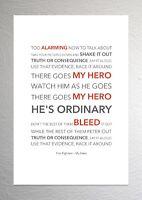 Foo Fighters - My Hero - Colour Print Poster Art