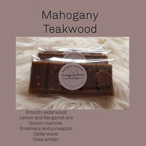 Indulgencia Scents Mahogany Teakwood-Wax Melt Snap Bar Highly Scented 50g